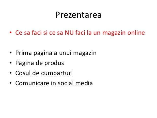 Asa Da, Asa Nu in E-Commerce - Prezentare GPEC 2012 Slide 2