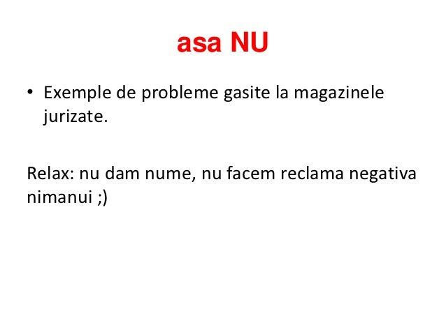 Asa Da, Asa Nu in E-Commerce - Prezentare GPEC 2012 Slide 3