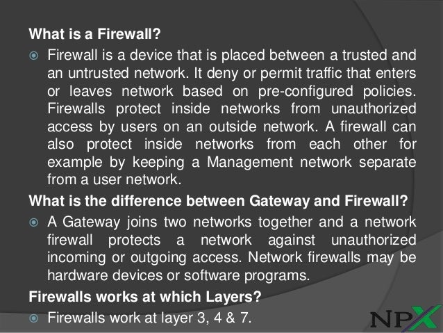 ASA Firewall Interview- Questions & Answers