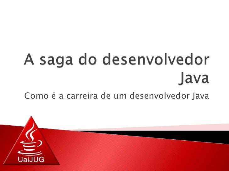 A saga do desenvolvedor Java<br />Como é a carreira de um desenvolvedor Java<br />