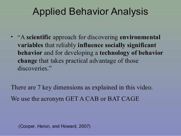 11. Applied Behavior Analysis ...