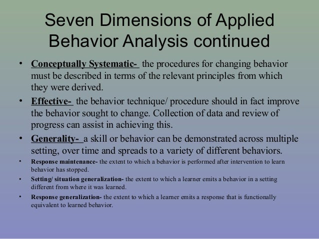 Beautiful 14. Seven Dimensions Of Applied Behavior Analysis ... Pictures Gallery