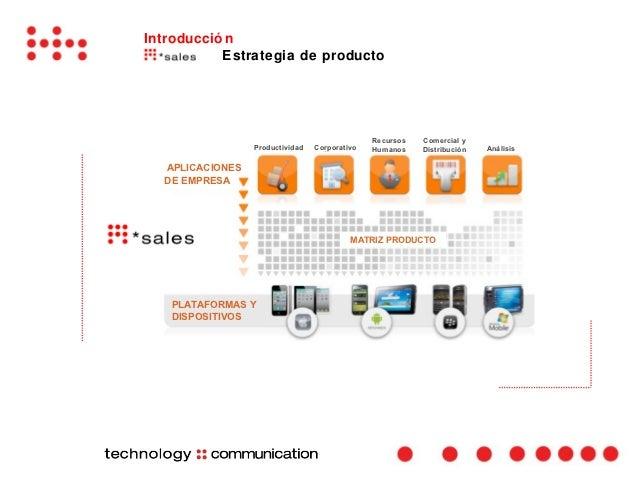 Introducció n           Estrategia de producto                                               Recursos   Comercial y       ...