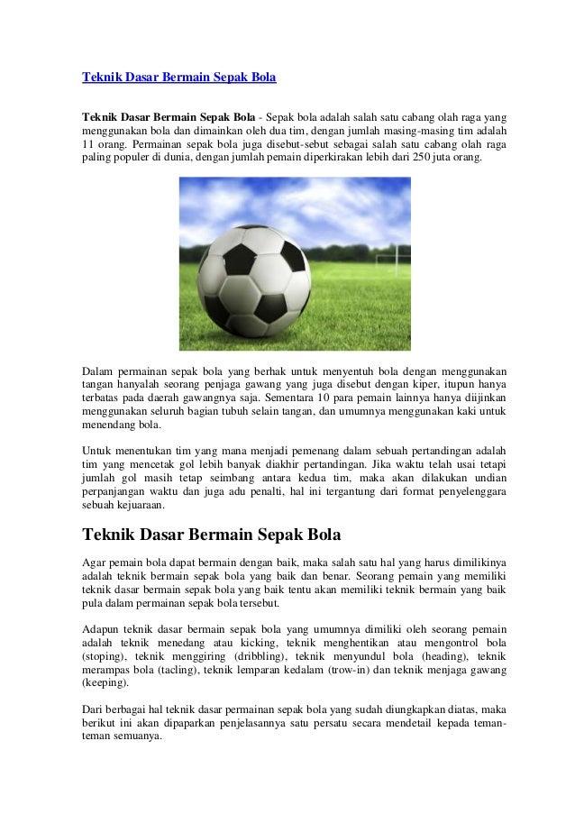 Contoh Kliping Penjaskes Tentang Sepak Bola