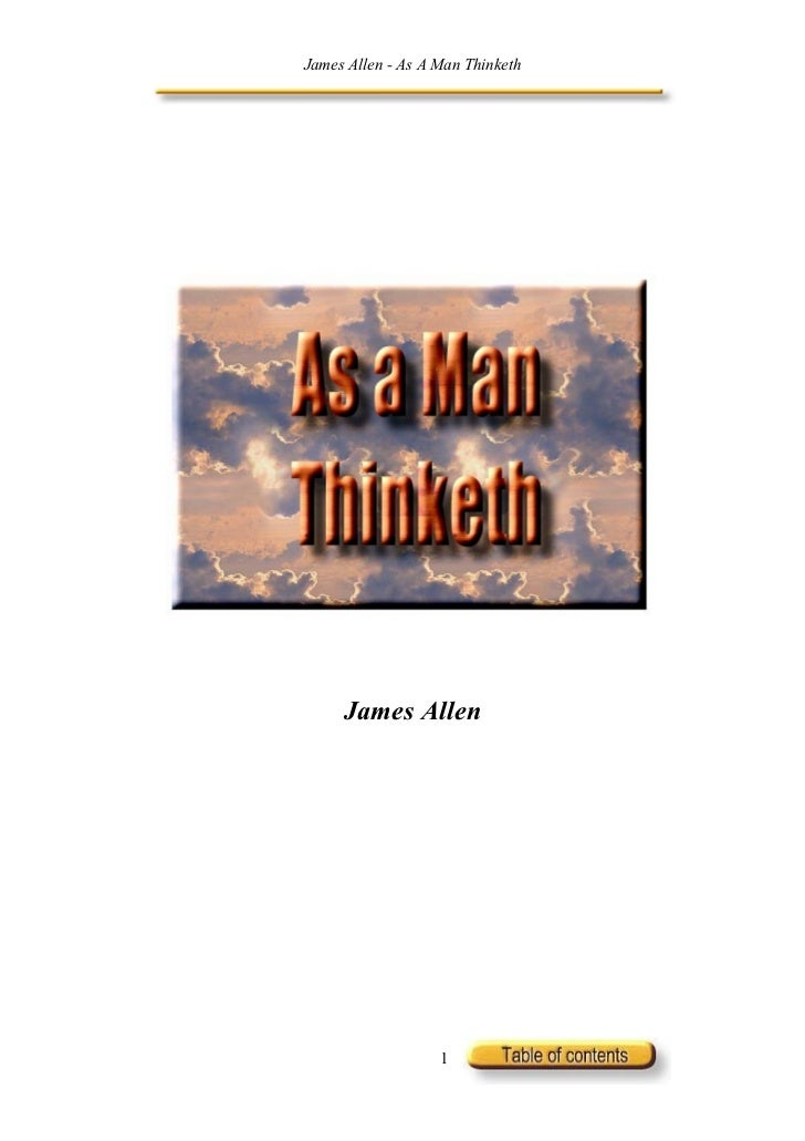 James Allen - As A Man Thinketh     James Allen                   1