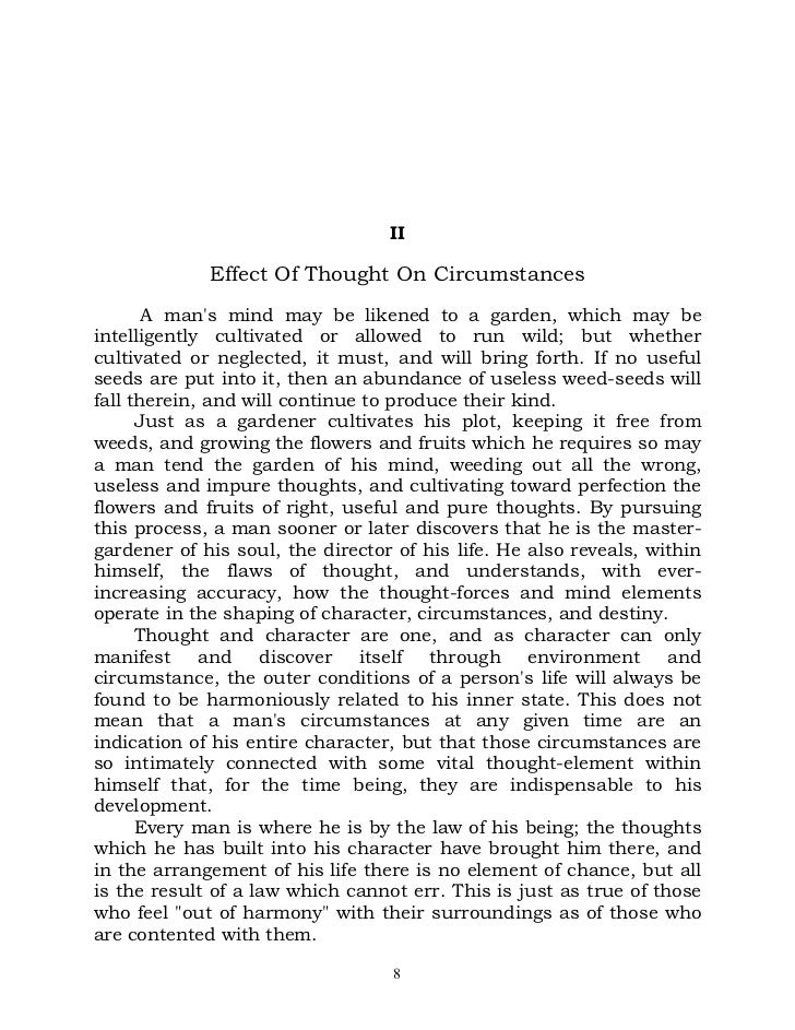 as the man thinketh james allen pdf