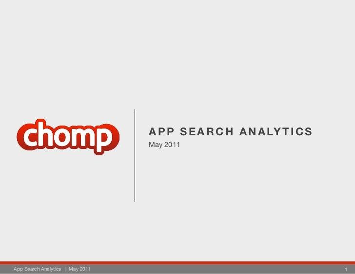 A P P S E A R C H A N A LY T I C S                                  May 2011App Search Analytics | May 2011               ...