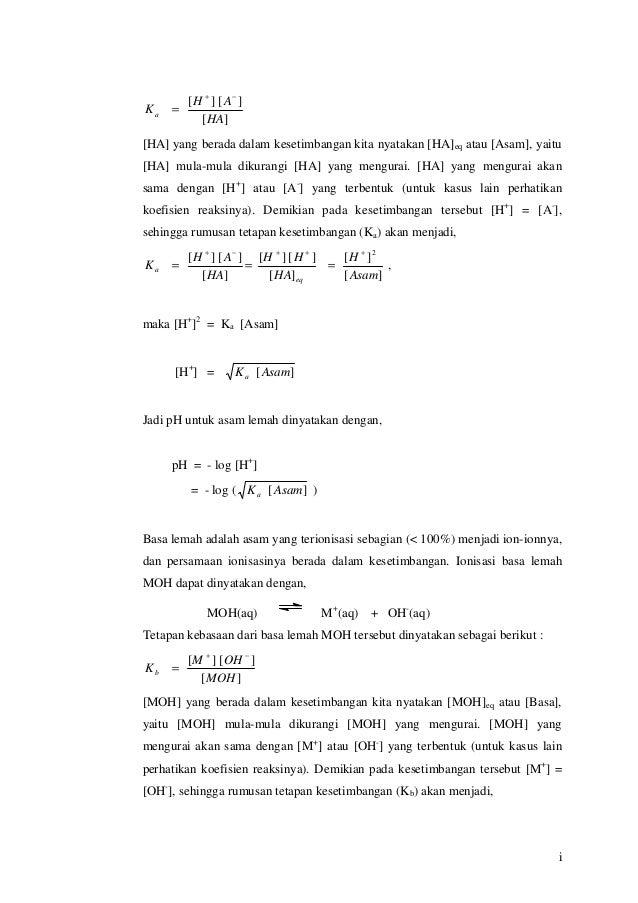 Persamaan Reaksi Ionisasi Nh4Oh - Puspasari