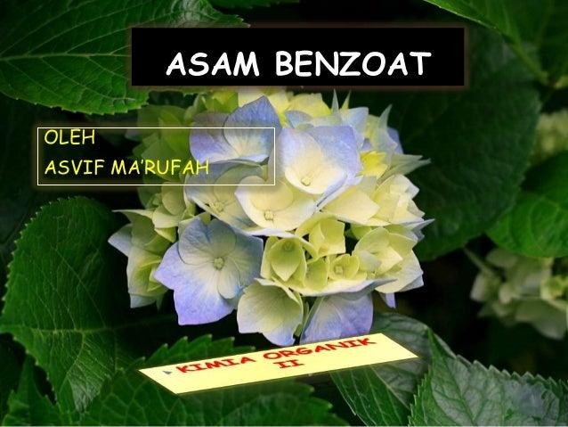 ASAM BENZOATOLEHASVIF MA'RUFAH