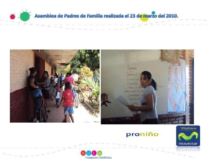 Asamblea de Padres de Familia realizada el 23 de marzo del 2010.                         <br />