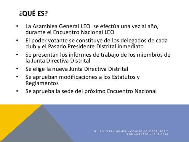 Asamblea General LEO Slide 2