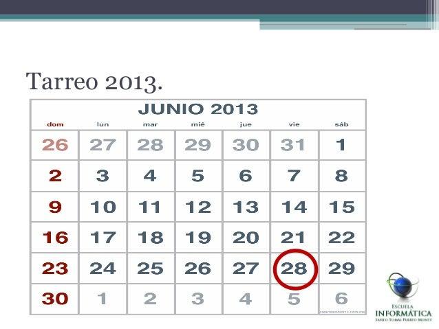 Tarreo 2013.
