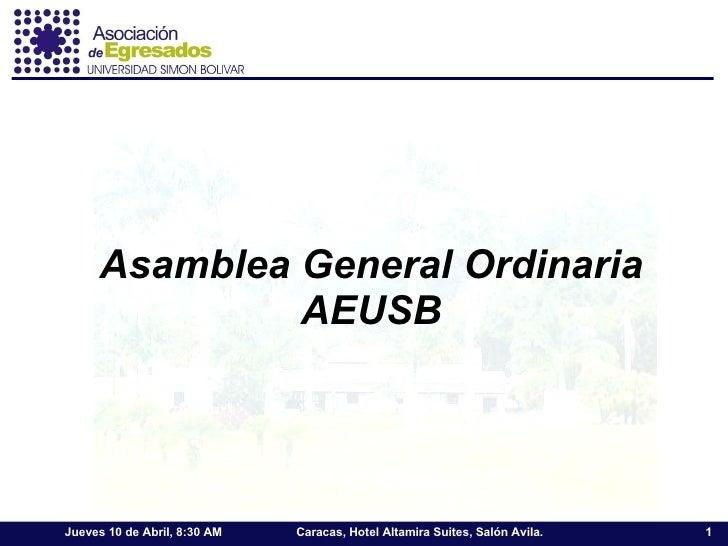 Asamblea General Ordinaria AEUSB