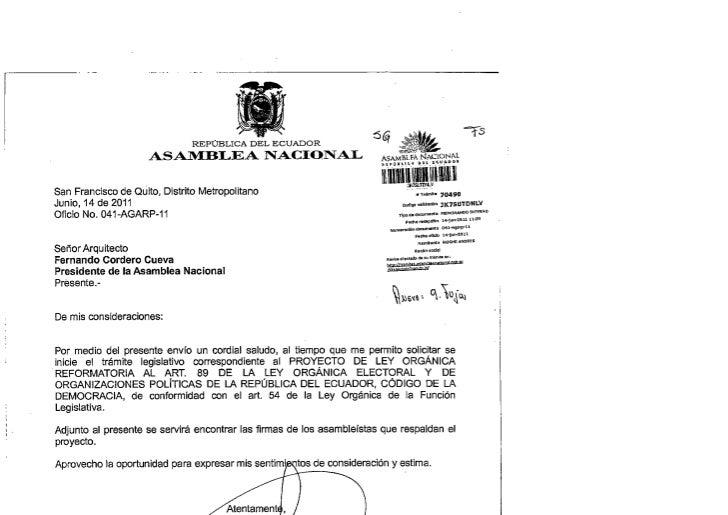 Proyecto de Ley Reforma al Código de la Democracia_Asambleísta Roche