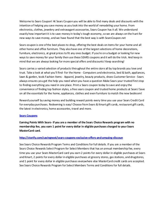 Sears Mastercard Login >> Searschoicerewards.Com Gift Cards | Lamoureph Blog