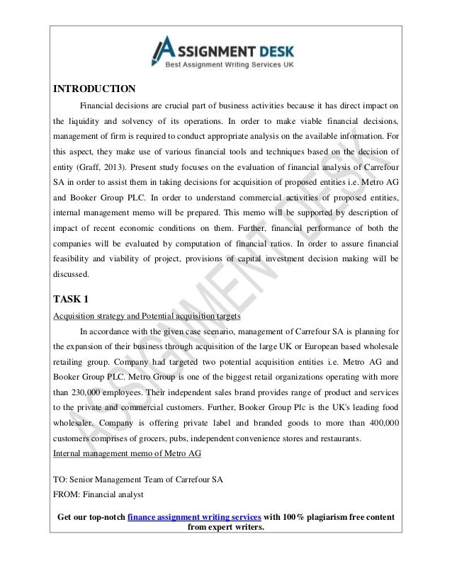 A Sample Report On Financial Analysis