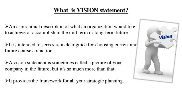 purpose of a vision statement