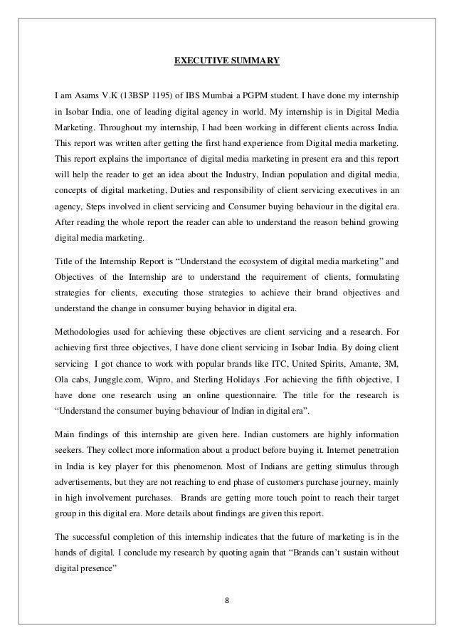 Project Report on Digital Media Marketing