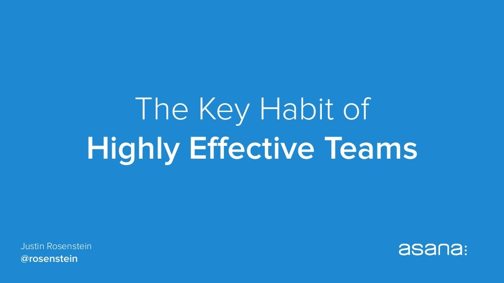 The Key Habit of Highly Effective Teams