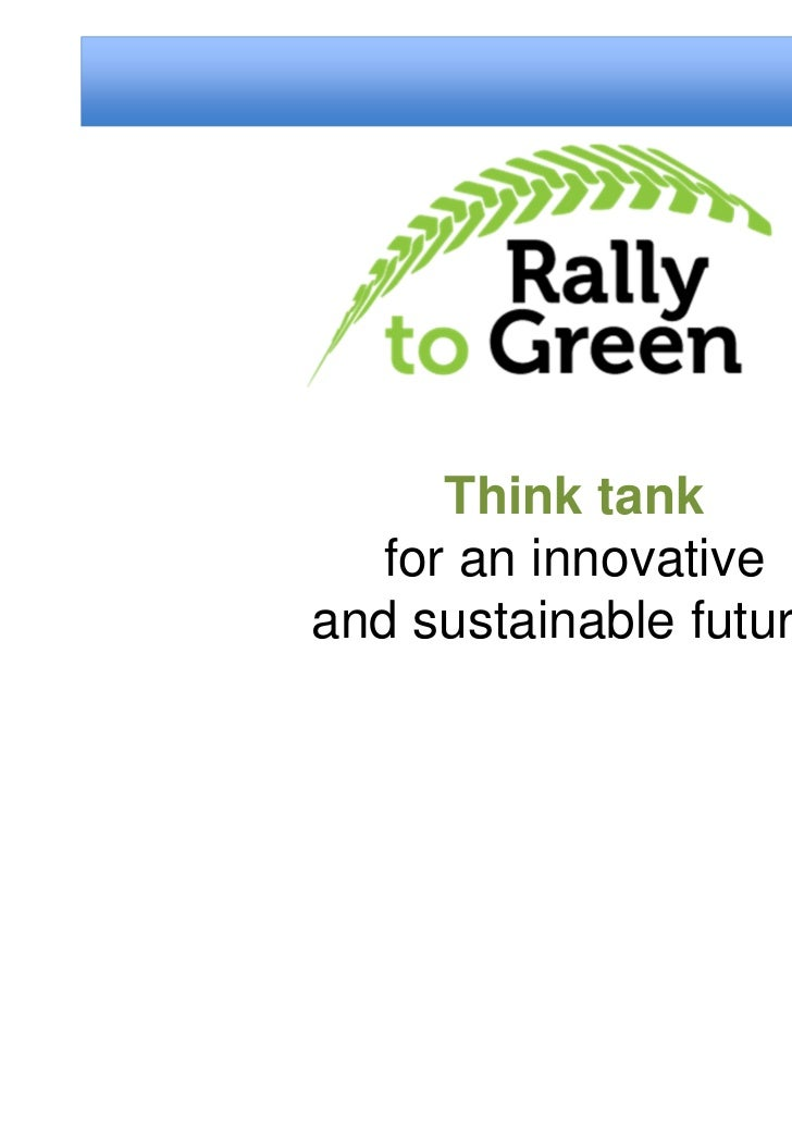 Think tank  for an innovativeand sustainable future.
