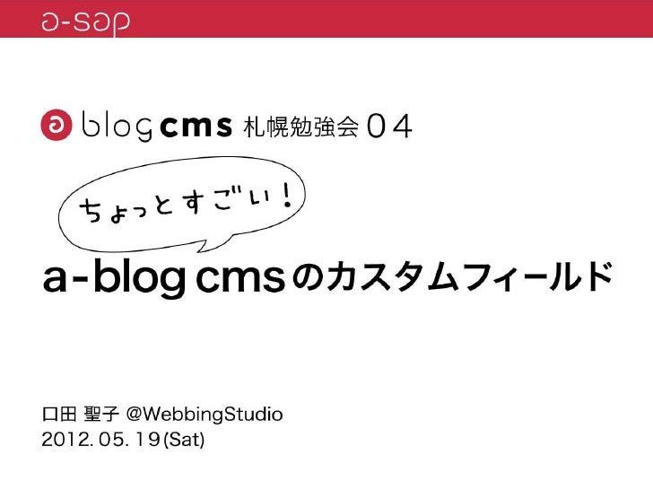 a-sap04「ちょっとすごい!a-blog cmsのカスタムフィールド」