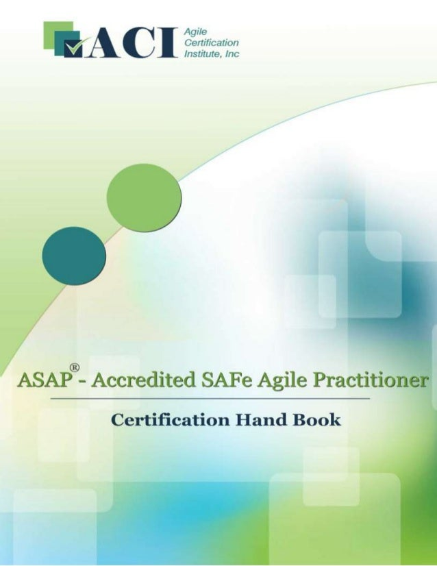 1 Page www.AgileCertifications.org | ASAP® Certification Handbook
