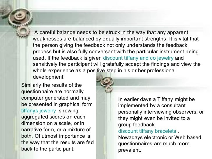 A careful balance needs to be struck in the way that any apparent weaknesses are balanced by equally important strengths. ...