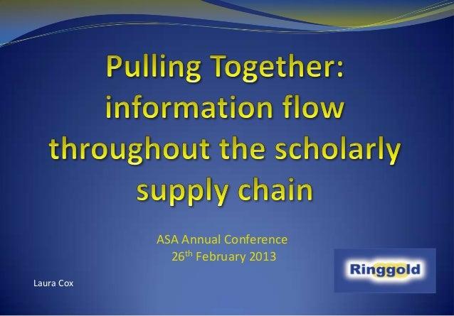 ASA Annual Conference              26th February 2013Laura Cox
