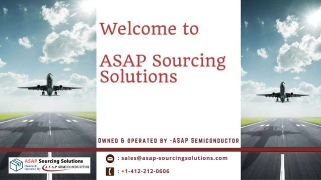About ASAP Sourcing Solutions - • ASAP Sourcing Solutions is an online solution for aviation parts purchasing. Specially p...