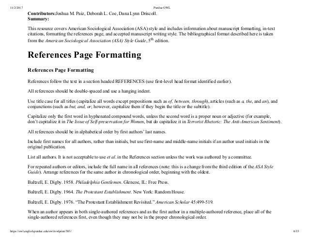 asa format example paper