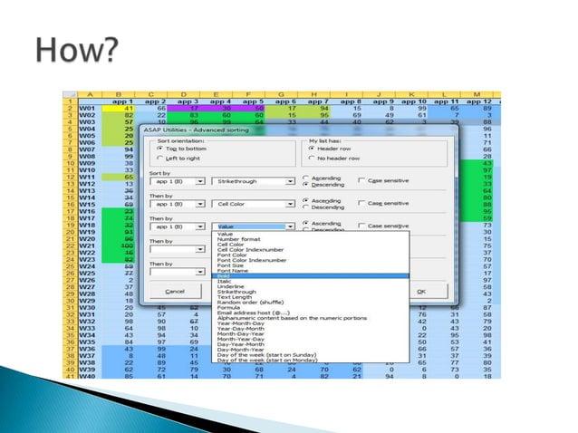    Pentru mai multe detalii gasiti pe site-ul    producatorului un tutorial video:   http://www.tiny.cc/advancedsorting/