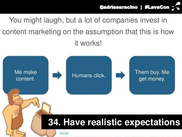 @adriasaracino | #LavaCon  34. Have realistic expectations  source