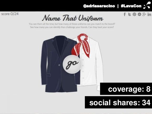 @adriasaracino | #LavaCon  coverage: 8  social shares: 34
