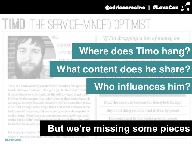 @adriasaracino | #LavaCon  But we're missing some pieces  image credit  Where does Timo hang?  What content does he share?...