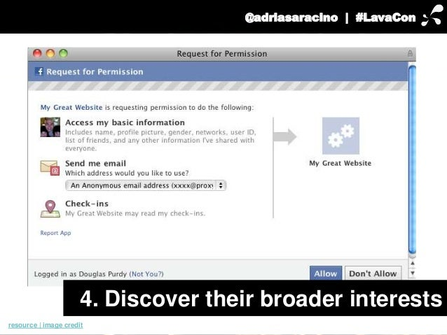 @adriasaracino | #LavaCon  4. Discover their broader interests  resource | image credit