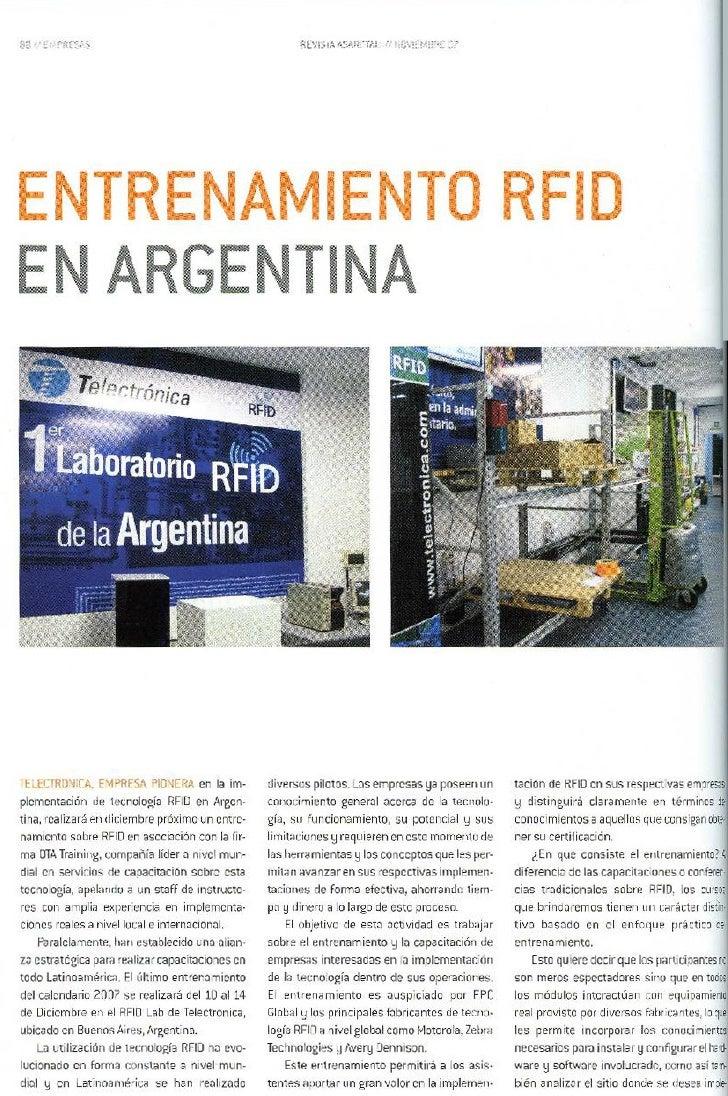 Entrenamiento RFID en Argentina
