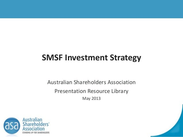 Sample investment strategy super fund.