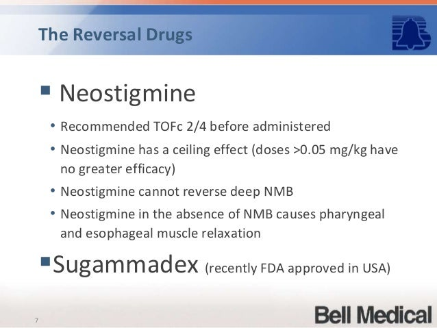 sugammadex reversal of profound vecuronium block Sugammadex compared with neostigmine/glycopyrrolate for for profound block, trials of reversal agents administered at ptc 1-2 were eligible (hereafter referred to as 'rocuronium with sugammadex') (ii) vecuronium 01 mg kg21 followed by reversal using.