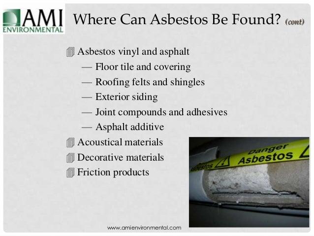 Encountering Asbestos