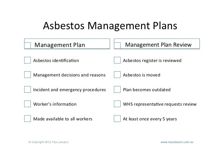 Asbestos A Practical Guide to Your Responsibilities Under New Work He…