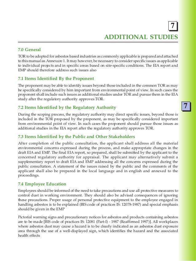 Asbestos Exposure Guidelines