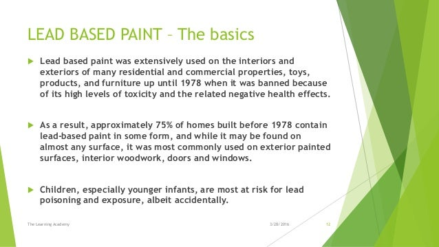 Lead Based Paint Years Used