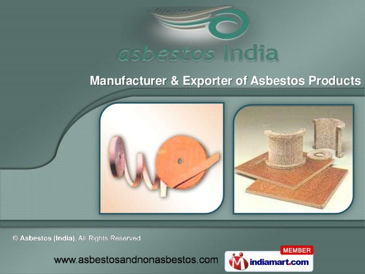 Manufacturer & Exporter of Asbestos Products