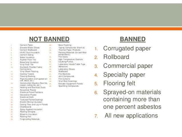 Asbestos regulations and schools