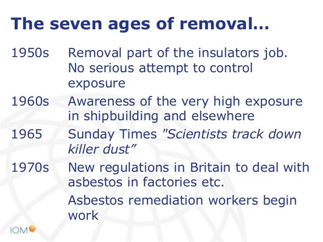Asbestos Exposure In Asbestos Insulation Removal Work At