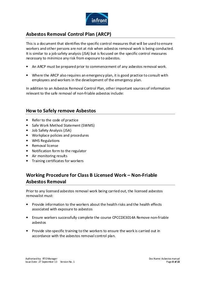 Asbestos Workbook