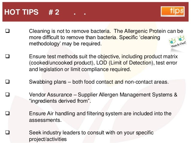 HOT TIPS # 2 . .  Cleaning is not to remove bacteria. The Allergenic Protein can be more difficult to remove than bacteri...