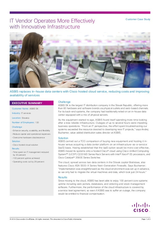 IT Vendor Operates More Effectively with Innovative Infrastructure  Customer Case Study  ASBIS replaces in-house data cent...
