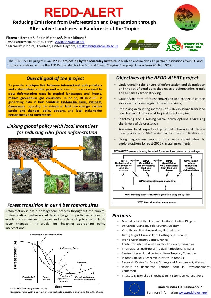 Reducing Emissions from Deforestation and Degradation through            Alternative Land-uses in Rainforests of the Tropi...