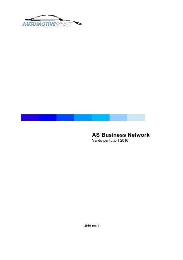 AS Business Network Valido per tutto il 2016 2016_rev. 1